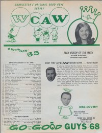 WCAW 1966 music survey